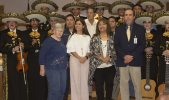 Mariachi bands perform  for school board
